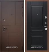 Входная металлическая дверь Армада Урбан ФЛ-243 (Ясень шоколадный / Венге)