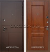 Входная металлическая дверь Армада Урбан ФЛ-243 (Ясень шоколадный / Орех)