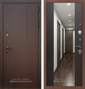 Входная дверь Армада Урбан СБ-16 с Зеркалом (Ясень шоколадный / Венге)