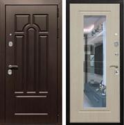 Входная металлическая дверь Армада Эврика 3К с Зеркалом (Венге / Белёный дуб)