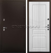 Уличная входная дверь Цитадель Термо Сибирь 3К (Антик медь / Сандал белый)