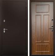 Уличная входная дверь Цитадель Термо Сибирь 3К (Антик медь / Орех Грецкий)