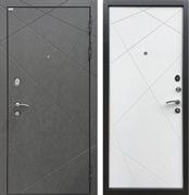 Входная металлическая дверь Ратибор Эстет 3К (Штукатурка Графит / Силк Сноу)