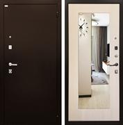 Входная металлическая дверь Ратибор Люкс с Зеркалом (Экодуб)