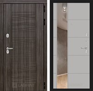 Входная металлическая дверь Лабиринт Сканди 19 Зеркало (Дарк Грей / Грей софт)