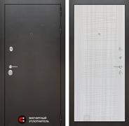 Входная металлическая дверь Лабиринт Сильвер 6 (Антик темное серебро / Сандал белый)