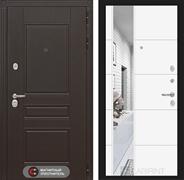 Входная металлическая дверь Лабиринт Мегаполис 19 Зеркало (Венге / Белый софт)