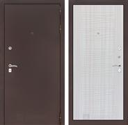 Входная металлическая дверь Лабиринт Классик 6 (Антик медный / Сандал белый)