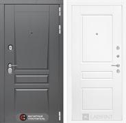 Входная металлическая дверь Лабиринт Платинум 3 (Альберо Грей / Белый софт)