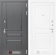 Входная металлическая дверь Лабиринт Платинум 11 (Альберо Грей / Белый софт)