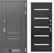 Входная металлическая дверь Лабиринт Платинум 1 (Альберо Грей / Венге)