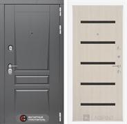 Входная металлическая дверь Лабиринт Платинум 1 (Альберо Грей / Дуб белёный)