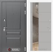 Входная металлическая дверь Лабиринт Платинум 19 Зеркало (Альберо Грей / Грей софт)