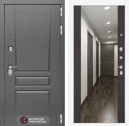 Входная металлическая дверь Лабиринт Платинум Зеркало Максимум (Альберо Грей / Венге)