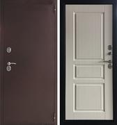 Уличная металлическая дверь с терморазрывом Аргус Аляска-1 (Медный антик / Ясень белый)