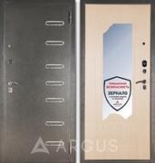 Входная металлическая дверь с зеркалом Аргус ДА-8 Элис (Серебро антик / Беленый дуб)