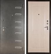 Входная металлическая сейф дверь Аргус ДА-15 Элис (Серебро антик / Дуб беленый)