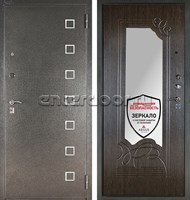Входная металлическая сейф дверь с зеркалом Аргус ДА-6 Даллас (Серебро антик / Венге)