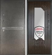Входная металлическая сейф дверь с зеркалом Аргус ДА-6 Франк (Серебро антик / Венге)
