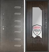Входная металлическая сейф дверь с зеркалом Аргус ДА-6 Элис (Серебро антик / Венге)