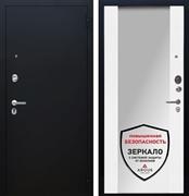 Входная металлическая дверь Аргус Люкс ПРО Вояж Милли с Зеркалом (Чёрный шелк / Белое дерево)
