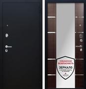 Входная металлическая дверь Аргус Люкс ПРО Самсон с Зеркалом (Чёрный шелк / Венге)
