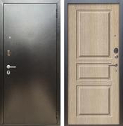 Входная металлическая дверь Аргус Люкс ПРО Сабина (Серебро антик / Капучино)
