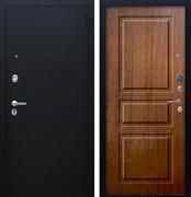 Входная металлическая дверь Аргус Люкс ПРО Сабина (Чёрный шелк / Золотой дуб)