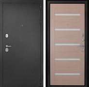 Входная металлическая дверь Континент Гарант-1 Царга 3К (Серебристый антик / Капучино)