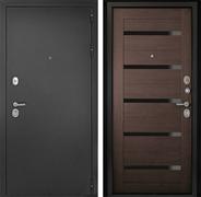 Входная металлическая дверь Континент Гарант-1 Царга 3К (Серебристый антик / Венге)