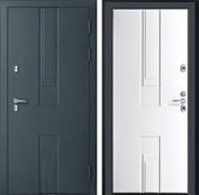 Уличная дверь с терморазрывом Дверной Континент Тоскана 3К (Силк Титан / Белый)