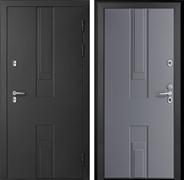 Уличная дверь с терморазрывом Дверной Континент Тоскана 3К (Чёрный металлик / Серый)