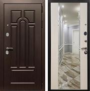 Входная металлическая дверь Армада Эврика 3К с Зеркалом СБ-16 (Венге / Лиственница беж)
