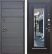 Входная металлическая дверь Армада 14 с Зеркалом (Графит софт / Венге)