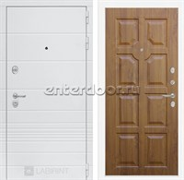 Входная металлическая дверь Лабиринт Трендо 17 (Белый камень / Золотой дуб)
