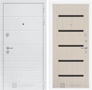 Входная металлическая дверь Лабиринт Трендо 1 (Белый камень / Дуб белёный)