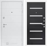 Входная металлическая дверь Лабиринт Трендо 1 (Белый камень / Венге)
