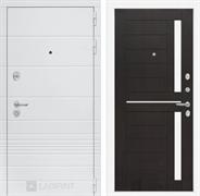 Входная металлическая дверь Лабиринт Трендо 2 (Белый камень / Венге)