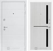 Входная металлическая дверь Лабиринт Трендо 2 (Белый камень / Сандал белый)