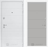 Входная металлическая дверь Лабиринт Трендо 13 (Белый камень / Грей софт)