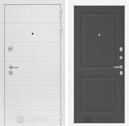 Входная металлическая дверь Лабиринт Трендо 11 (Белый камень / Графит софт)