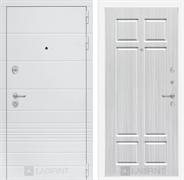 Входная металлическая дверь Лабиринт Трендо 8 (Белый камень / Кристалл вуд)