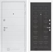Входная металлическая дверь Лабиринт Трендо 4 (Белый камень / Венге)