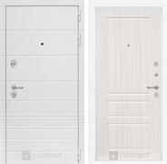 Входная металлическая дверь Лабиринт Трендо 3 (Белый камень / Сандал белый)