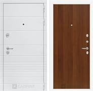 Входная металлическая дверь Лабиринт Трендо 5 (Белый камень / Итальянский орех)
