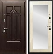Входная металлическая дверь Армада Эврика 3К с Зеркалом Пастораль (Венге / Лиственница беж)