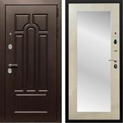 Входная металлическая дверь Армада Эврика 3К с Зеркалом Пастораль (Венге / Дуб белёный)