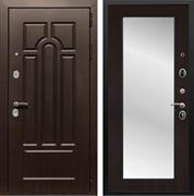 Входная металлическая дверь Армада Эврика 3К с Зеркалом Пастораль (Венге / Венге)