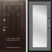 Входная металлическая дверь Армада Эврика 3К с Зеркалом Пастораль (Венге / Графит софт)