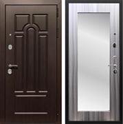 Входная металлическая дверь Армада Эврика 3К с Зеркалом Пастораль (Венге / Сандал серый)